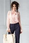 Bluza Jessie roz din voal eleganta