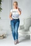 Jeans Troia casual albastri