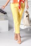 Pantalon Dalida galben cu dunga office