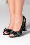 Pantofi Hama decupati cu imprimeuri