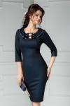 Rochie Amos bleumarin de ocazie midi eleganta