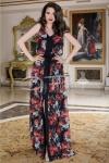 Rochie Jamila Lunga Din Voal Floral, colectia 2018