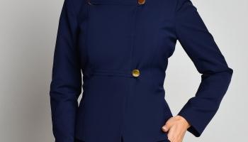 Sacou Ginette Bleumarin Office Elegant, colectia 2018