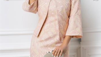 Sacou Leonard Collection Raisa roz pudra elegant, colectia 2019